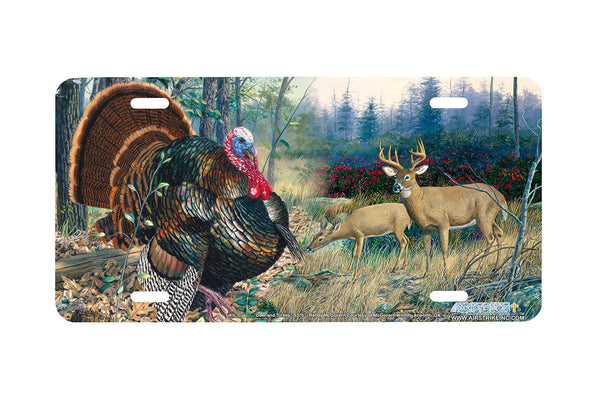 "Airstrike® 5376-""Deer and Turkey"" Deer and Turkey License Plate"