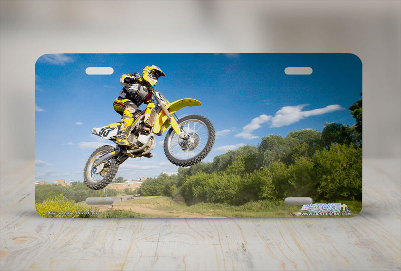 "Airstrike® 274-Y-""Motocross Yellow"" Motocross License Plates"