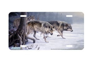 "Airstrike® Wolf License Plate 8232-""Eyes of the North""- Wolves License Plate"