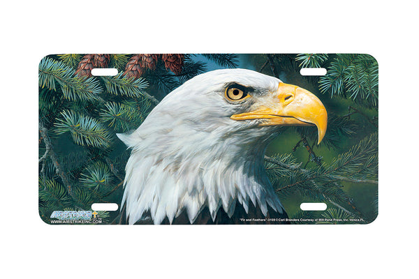 "Airstrike® 3159-""Fir and Feathers"" Eagle License Plate"