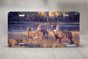 "Airstrike® 6509-""Shadowtime"" Deer License Plate"