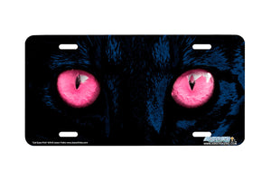 "Airstrike® 248-Pk -""Pink Cat Eyes"" Cat Eyes Pink License Plate"