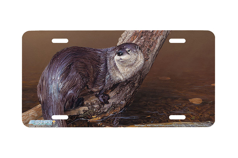 "Airstrike® 8283-""Waterlogged""-Otter License Plate"
