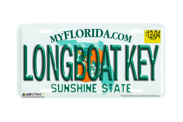 "Airstrike® 595-""Florida State Plate Longboat Key""-License Plate"
