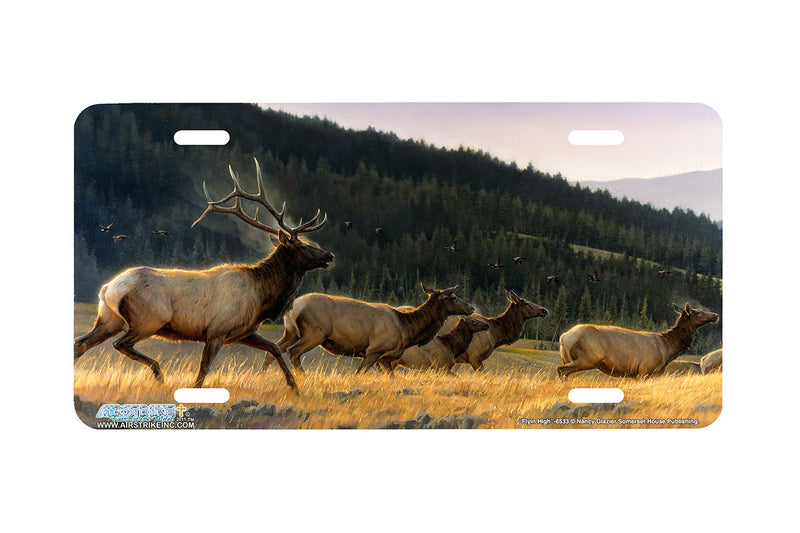 "Airstrike® 6533-""Flyin High""-Elk License Plate"