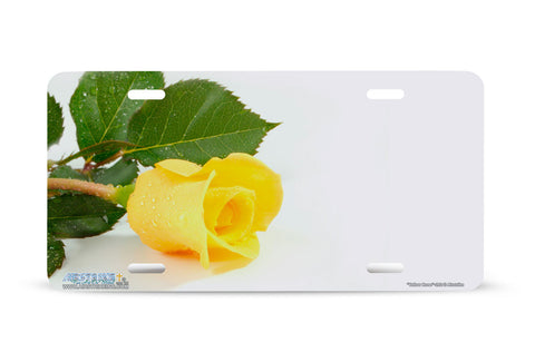 "Airstrike® 292-""Yellow Rose"" Rose Flower License Plates"