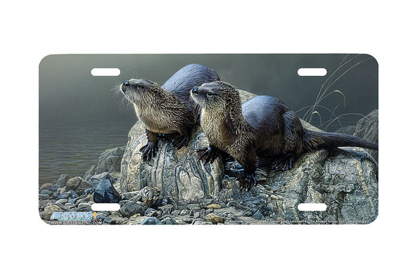 "Airstrike® 8245-""Riverside Rapport""- Otters License Plate"