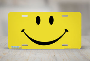 "Airstrike® 420-"" Yellow Smiley Face"" Smiley Face License Plates"