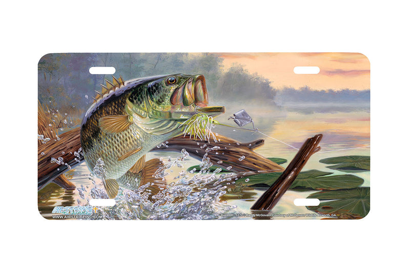 "Airstrike® Bass Fishing License Plates 5372-""Buzz Off"" Bass License Plate"