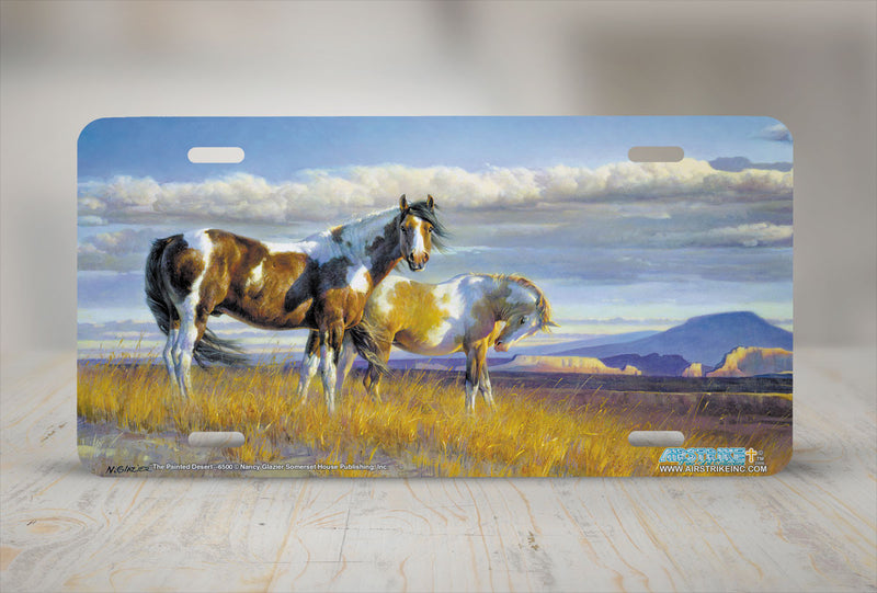 "Airstrike® 6500-""The Painted Desert"" Horse License Plates"