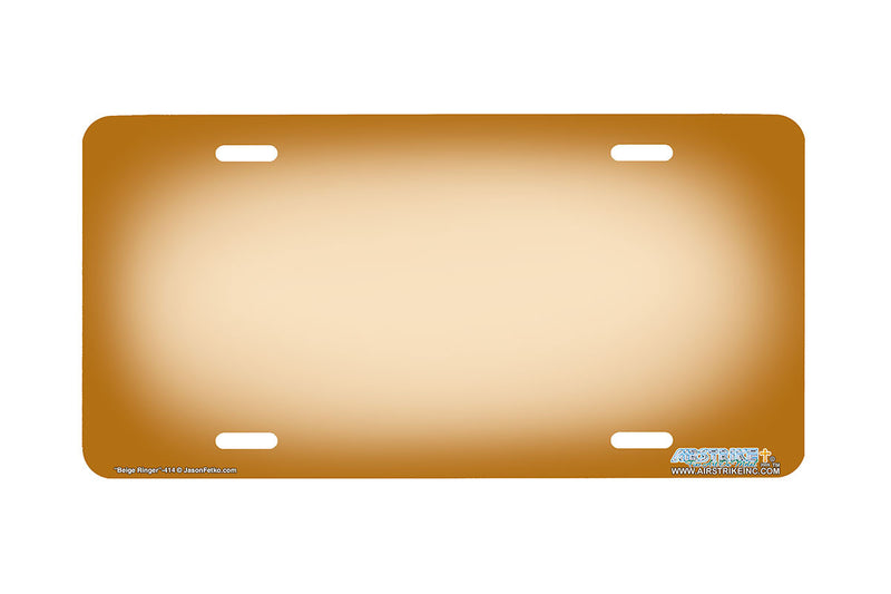 "Airstrike® 414-""Beige Ringer"" Beige Background License Plates"