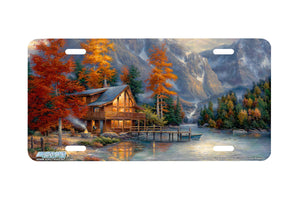 "Airstrike® 3723-""Space for Reflection""-Mountain License Plate"