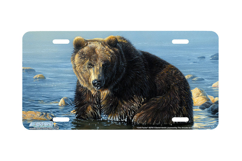 "Airstrike® 8276-""Chill Factor""-Grizzly Bear License Plate"