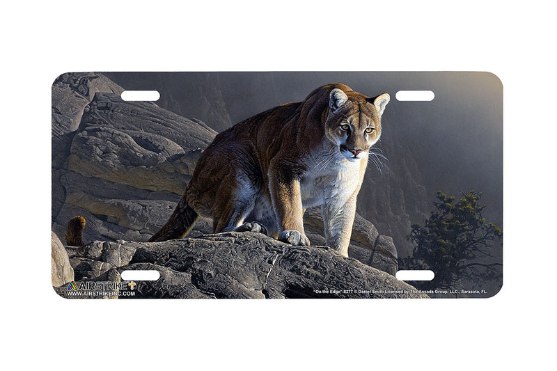 "Airstrike® 8277-""On the Edge""-Cougar License Plate"