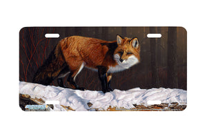 "Airstrike® Fox License Plate 8282-""Winter Finery""-Fox License Plate"