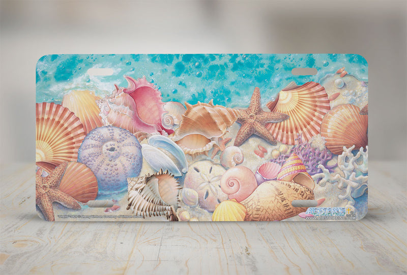 "Airstrike® Sea Shells License Plate 3421-""Shells"" Beach License Plates"