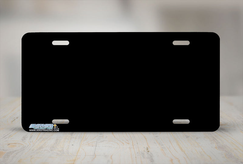 "Airstrike® 585-""Black Solid"" Blank License Plate"