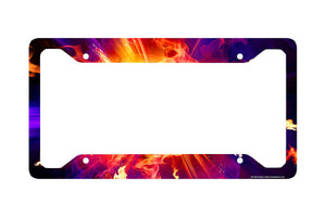 Airstrike® Explosion License Plate Frame, Fire Ball Car Tag Frame, Bursting Sparks License Plate Holder, Cute License Plate Frame-30-735