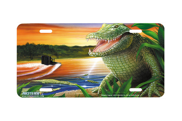 "Airstrike® 233-""Alligator Lagoon""-Gator License Plate"