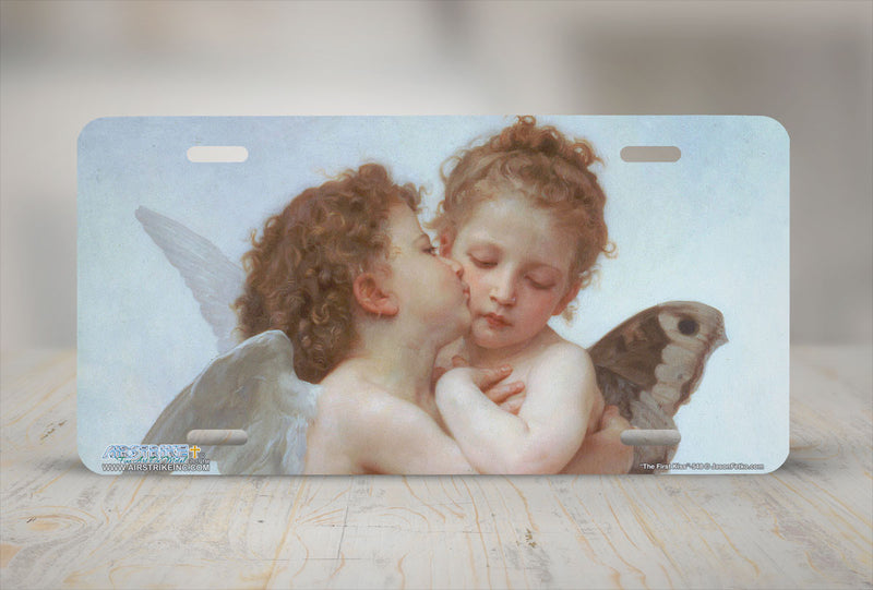 "Airstrike® 548-""The First Kiss""-Angels License Plate"