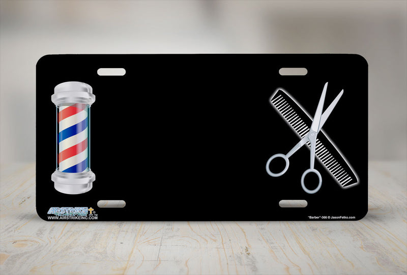 "Airstrike® 366-""Barber""-Haircut License Plates"