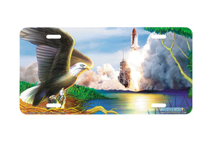 Airstrike® Space Shuttle License Plate Taking Flight-209