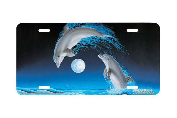 "Airstrike® Dolphin License Plate 3405-""Over the Moon"" Dolphins License Plate"