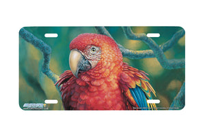 "Airstrike® 3423-""Red Macaw"" Parrot License Plate"