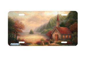 "Airstrike® Christian License Plate Beach License Plate 3713-""Compassion Chapel""-Church License Plate"