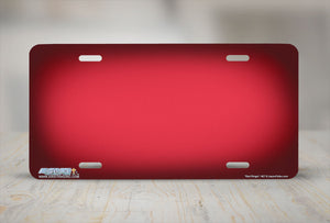 "Airstrike® 407-""Red Ringer"" Red Background License Plates"