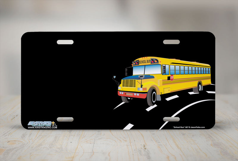 "Airstrike® 367-""School Bus"" School Bus License Plates"
