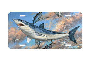 "Airstrike® Shark License Plate 5045-""Mako Moon"" Beach License Plate"