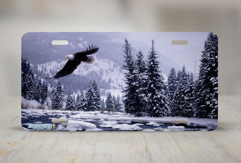 "Airstrike® 8211-""Free Flight""-Eagle License Plate"