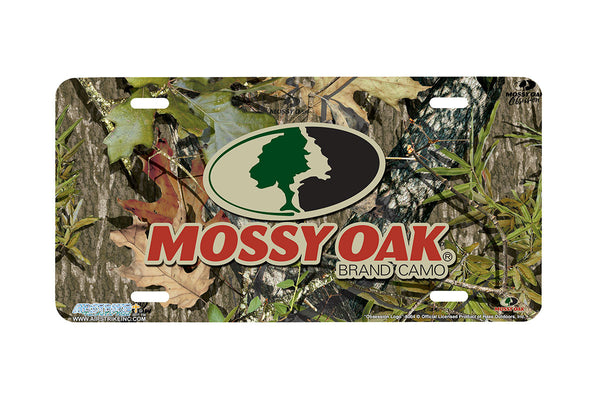 "Airstrike® Mossy Oak License Plate 8004-""Obsession Logo""-Mossy Oak Camo License Plate"