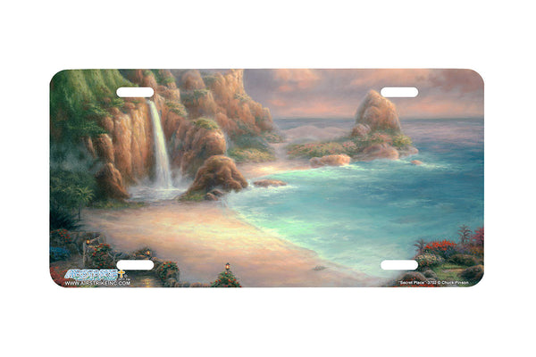 "Airstrike® Beach License Plate 3702-""Secret Place""-Beach Scene License Plate"