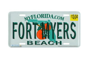 "Airstrike® 593-""Florida State Plate Fort Myers Beach""-License Plate"