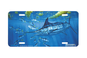 "Airstrike® Fishing License Plates 5004-""Blue Marlin and Dolphin"" License Plate"