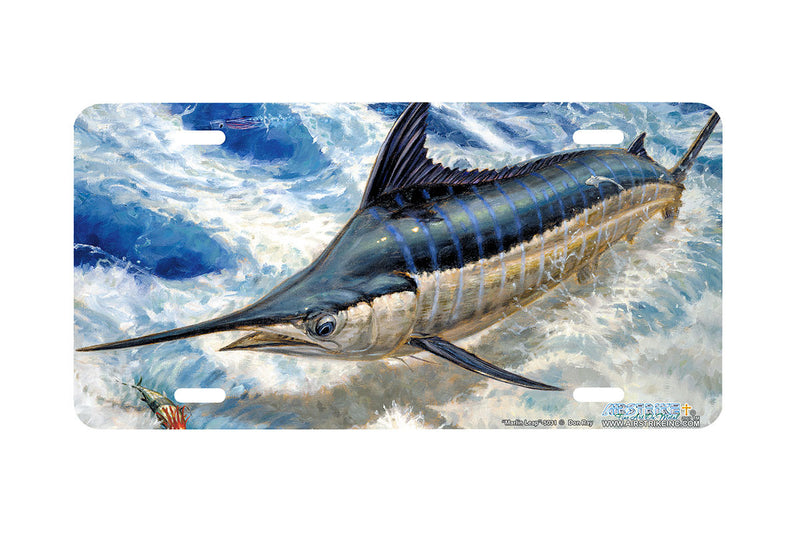 "Airstrike® Fishing License Plates 5031-""Marlin Leap"" License Plate"