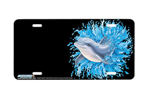 "Airstrike® Dolphin License Plate 3406-""Dolphin Splash"" Dolphins License Plate"