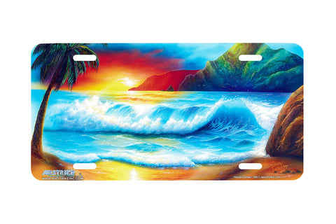 "Airstrike® Beach License Plate 205-""Hawaiian Sunset"" License Plate"