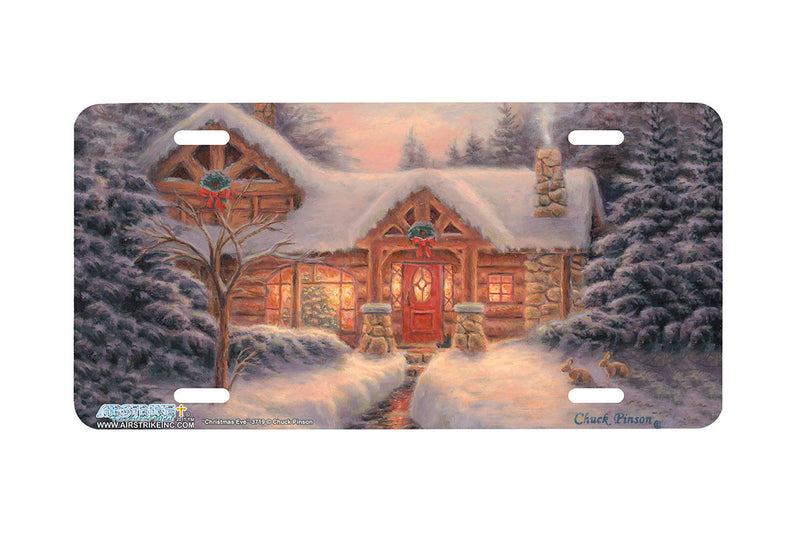 "Airstrike® 3719-""Christmas Eve""-Holidays License Plate"