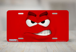 "Airstrike® 434-""Red Smirk"" Face Emoticon License Plates"