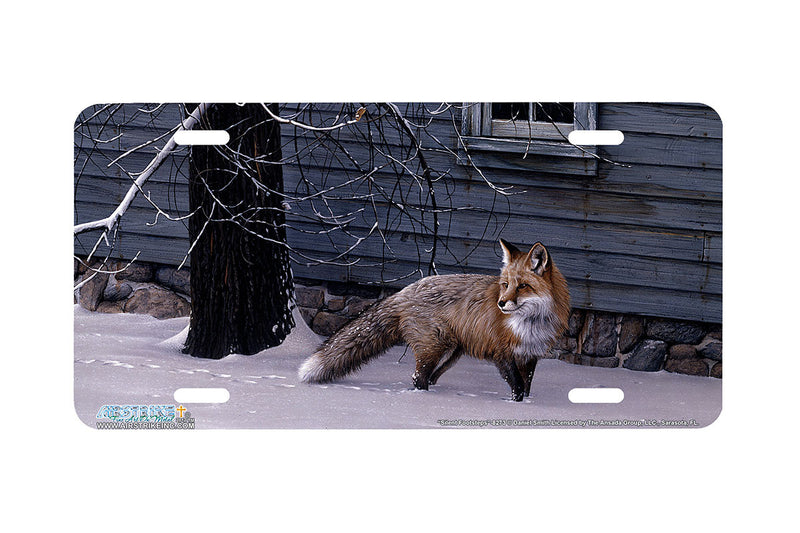 "Airstrike® Fox License Plate 8273-""Silent Footsteps""-Fox License Plate"