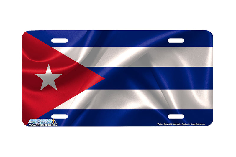 "Airstrike® 487-""Cuban Flag""-Cuban Flag License Plates"