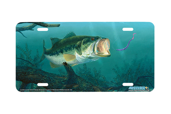 "Airstrike® Bass Fishing License Plates 5213-""Lunker Lunch"" License Plate"