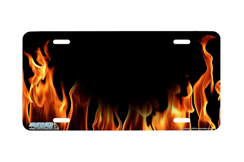 "Airstrike® 376-""Real Flames"" Fire License Plates"