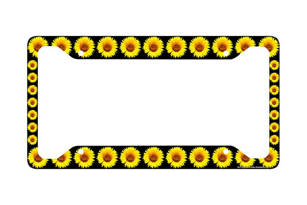 Airstrike® Sunflower License Plate Frame, Sunflower Car Tag Frame, Sunflowers License Plate Holder, Sunflowers Decorative License Plate Frame-30-710