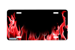 "Airstrike® 522-""Real Red Flames""- Fire License Plate"