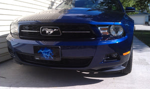 "Airstrike® Mustang License Plate 493-""Fire Mustang Blue""-Horse License Plates"