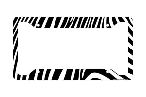 Airstrike® Zebra License Plate Frame, Zebra Car Tag Frame, Zebra License Plate Holder, Cute Zebra Print License Plate Frame-30-450